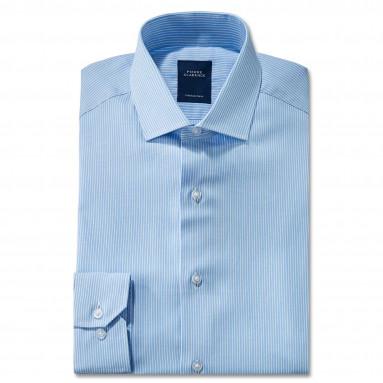 Chemise droite rayée col semi-italien