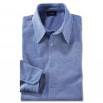 Chemise droite coton col pointes libres