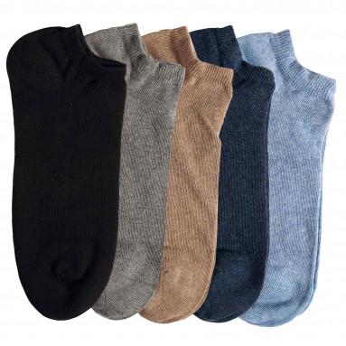 Chaussettes courtes «invisibles» - les 5 paires
