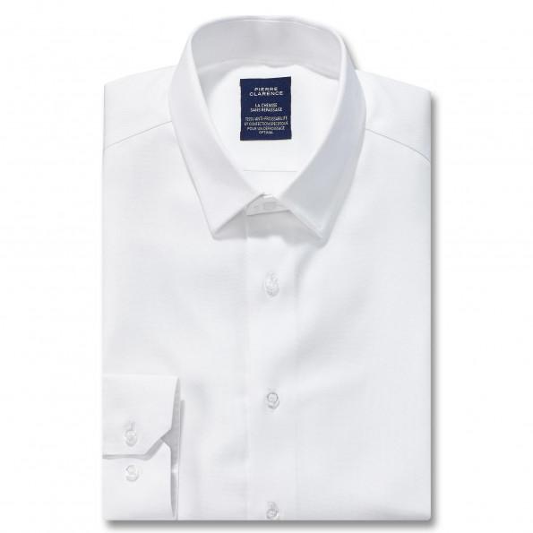 Chemise sans repassage droite Royal Oxford col semi-italien