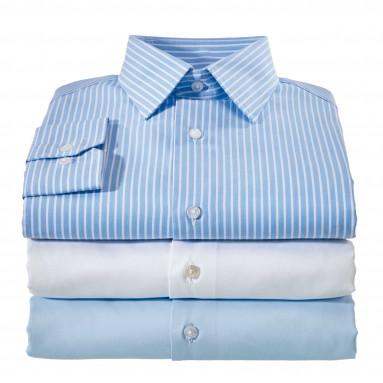 Votre offre du mois : Le trio chemises popeline droite col semi-italien