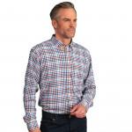 Chemise confort flanelle carreaux col boutonné