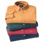 Chemise confort flanelle laine col boutonné