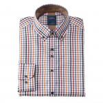 Chemise droite carreaux col boutonné