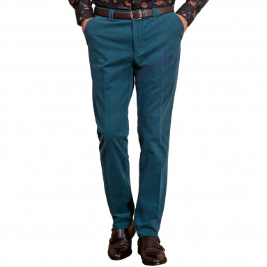Pantalon coton pima émerisé