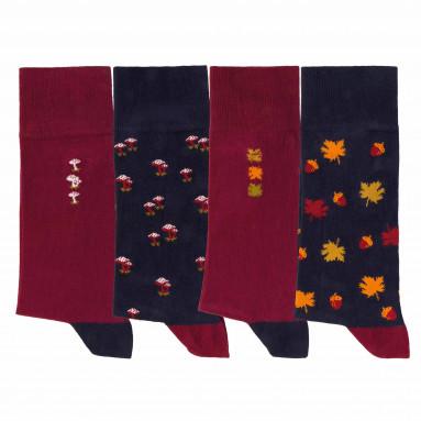 Chaussettes fantaisie - les 4 paires