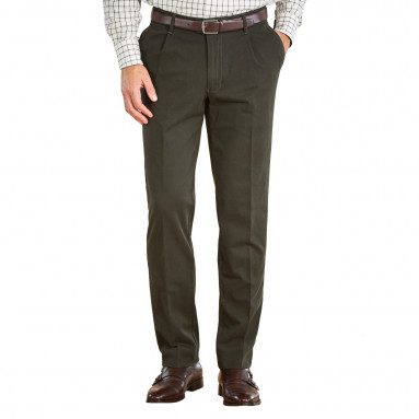 Pantalon chino à pinces