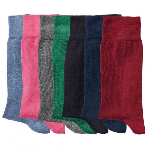 Chaussettes coton - les 7 paires