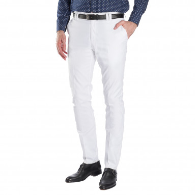 Pantalon coton extensible