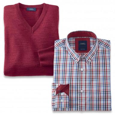 Duo chemise + pull