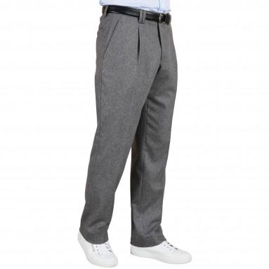 Pantalon flanelle à plis
