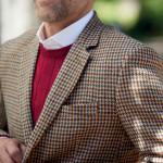 Veste blazer carreaux tweed