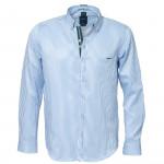 Chemise droite rayée col boutonné
