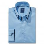 Chemise droite coton col boutonné
