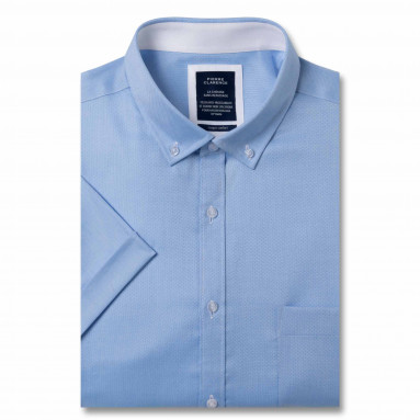 Chemisette sans repassage confort Royal Oxford col boutonné