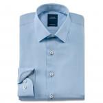 Chemise droite fil à fil col italien