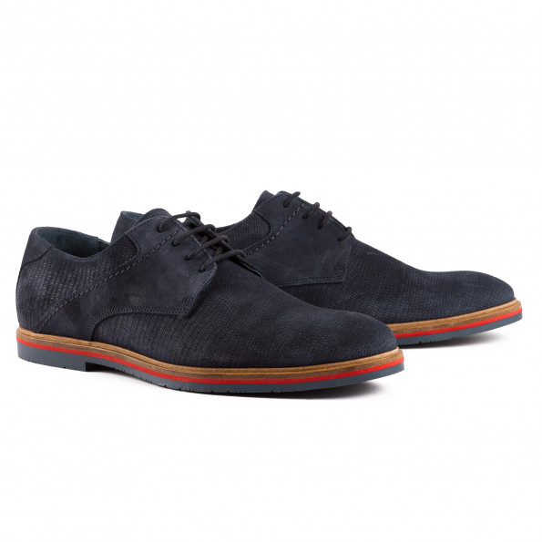Derby cuir velours