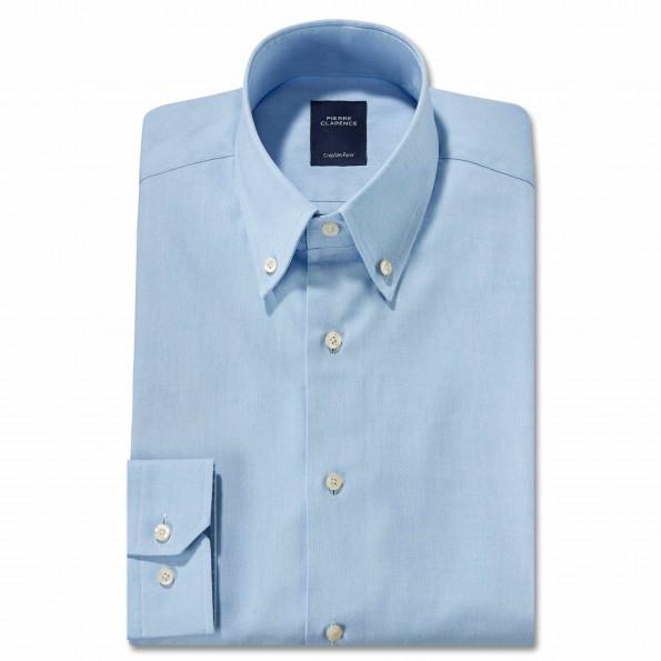 Chemise droite oxford col boutonné