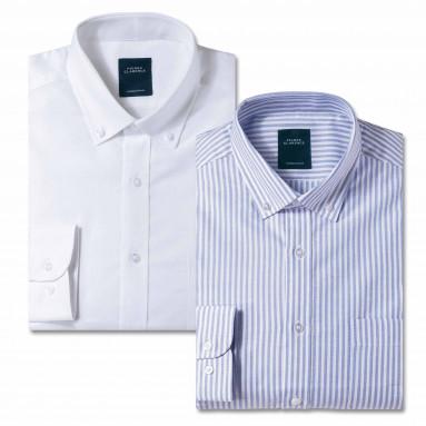 Le duo chemise droite business oxford