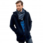 Manteau droit à capuche