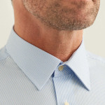 Chemise droite rayée col français