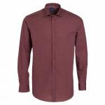 Chemise droite coton imprimée cachemire col boutonnage caché