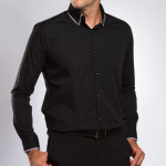 Chemise droite col double boutonné First Class