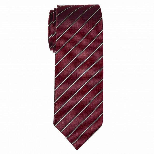 Cravate slim rayure bicolore - Soie