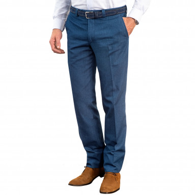 Pantalon denim ville demi-mesure entrejambe 92cm