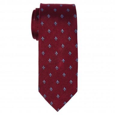 Cravate slim fleur de lys - Soie