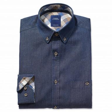 Chemise droite coton col boutonné Sport - Chic