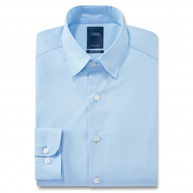 Chemise droite popeline col boutonnage caché