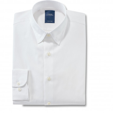 Chemise ajustée popeline col boutonnage caché