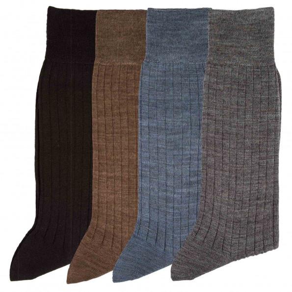 Chaussettes mérinos - les 4 paires